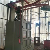 不锈钢制品喷砂机铁件挂具吊钩式抛丸机
