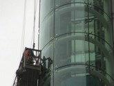 更换幕墙玻璃/更换幕墙电梯玻璃/幕墙修复