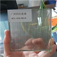 夹丝玻璃 酒店装饰夹绢玻璃 家装艺术夹丝玻璃