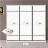 厂家衣柜板材密度板推拉衣柜门 冰雕系列