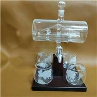 带龙头帆船醒酒器创意玻璃小船造型白酒瓶