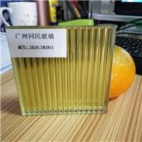 条纹夹胶玻璃 夹层玻璃 隔断条纹玻璃