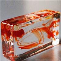 厂家生产透明彩色实心玻璃砖 水晶砖 外墙砖