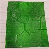 压花玻璃蓝绿茶七巧板