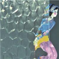 供应金晶钢化级水立方压花玻璃
