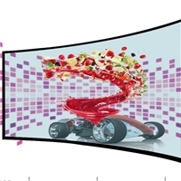 55英寸优质镜面透明屏品牌、曲面屏定制销售