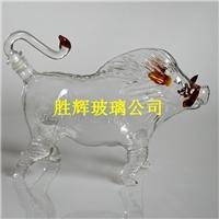 大野猪玻璃酒瓶醒酒器