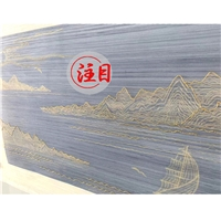 厂家直销手绘+手绣点缀性刺绣 手绣夹丝玻璃材料艺术