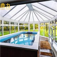 别墅泳池上盖玻璃阳光房怎么设计效果比图片还美