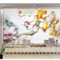 客厅电视背景墙艺术玻璃雕刻