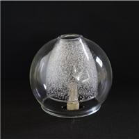 灯罩 平口圆球双层内罩烤玻璃砂