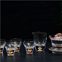 美璃创意珐琅彩金箔茶具套装