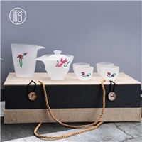 美璃创意景泰蓝系列玻璃茶具套装
