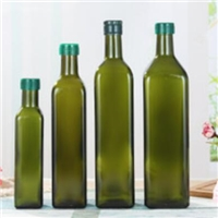 徐州采购-墨绿色玻璃橄榄油瓶