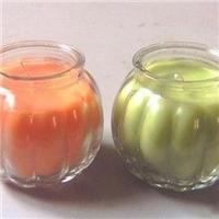 徐州誉华玻璃瓶厂家供给玻璃南瓜烛台,出口玻璃烛台