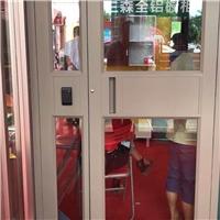 高档铝材入户门 配刷卡指纹铝合金门厂家
