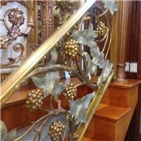 铜不锈钢玻璃楼梯扶手护栏价格高度后果图片装置