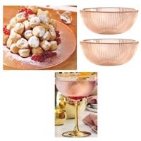宁波采购-粉色玻璃餐具