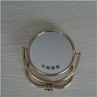 360度旋转高清圆形台式可折叠双面化妆镜银镜