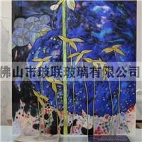琉璃珐琅彩装饰画 屏风冰花玻璃