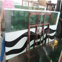 丝印钢化玻璃 家具玻璃 橱柜门玻璃
