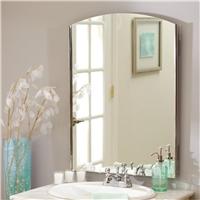现代繁复欧式方形银镜酒店装潢壁挂镜子 防水防雾