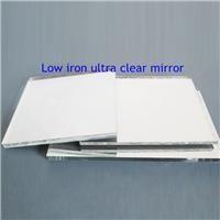 廠家定制尺寸鋼化玻璃門噴砂玻璃隔斷高清單面透光鏡