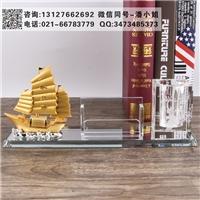 帆船模型水晶擺件 內雕模型紀念品定制 公司開業禮品