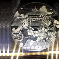 广州卓越特种玻璃激光镭雕玻璃导光玻璃