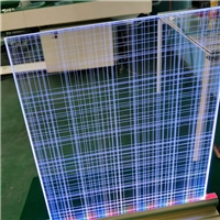 广州卓越特种玻璃内雕导光玻璃