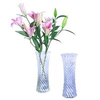 玻璃花瓶富贵竹桌面装饰瓶6角瓶插花瓶
