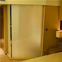 酒店调光玻璃雾化玻璃隔断应用