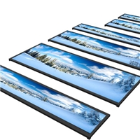 长条屏玻璃/液晶广告屏钢化玻璃/地铁屏AG玻璃
