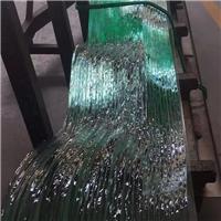 热熔玻璃水纹玻璃加工