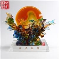 广州琉璃商务礼品 广州琉璃工艺品厂家 琉璃纪念品摆件