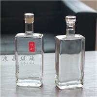 高档玻璃瓶白酒瓶晶白料方酒瓶果酒瓶