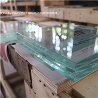 15mm超白SGP膜三层四层五层夹胶玻璃