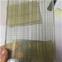 钢化夹胶夹金属网安全玻璃