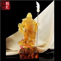 古法琉璃关公像 公司前台财神 广州琉璃佛像工艺品厂家