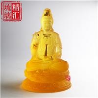 琉璃观音菩萨 寺庙琉璃佛像工厂直销 广州琉璃工艺品