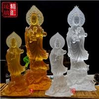 琉璃观音菩萨 琉璃送子观音广州琉璃佛像工艺品厂家