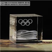 奥运会鸟巢内雕摆件 飞机场建设纪念品 水晶礼品批发