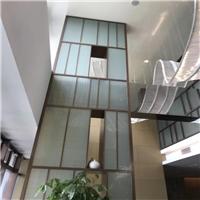 夹丝玻璃 酒店夹绢玻璃 淋浴房夹丝玻璃