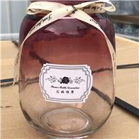 玻璃瓶花瓶渐变色玻璃花瓶桌面装饰瓶插花瓶