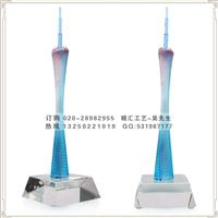 广州塔模型工艺品厂家 水晶琉璃广州小蛮腰工艺品