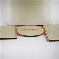 壁炉玻璃厂家直销耐高温浅茶色微晶玻璃