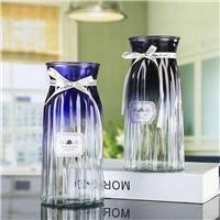 玻璃花瓶渐变色18折纸富贵竹玻璃瓶桌面装饰插花瓶