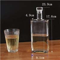 玻璃酒瓶方酒瓶密封瓶果汁瓶饮料瓶