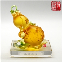琉璃葫芦风水摆件 广州琉璃工厂 琉璃招财摆件礼品