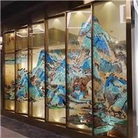 彩绘玻璃 珐琅彩玻璃 艺术钢化珐琅彩玻璃同民